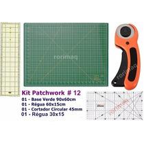 Kit Base De Corte + Régua + Cortador Patchwork Scrapbook #12