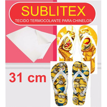 Sublitex- Tecido Termocolante P/ Chinelos - 31cm - 50 Mt