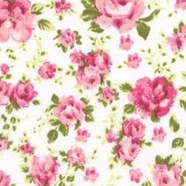 Tecido Tricoline Patchwork 100% Algodão Floral
