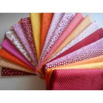 Kit Tecidos 100% Algodão Patchwork Floral E Poás K20ar