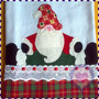 Pano De Prato Em Patchwork - Papai Noel