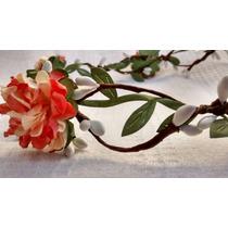 Coroa De Flores, Guirlanda, Headband Com Folhinhas