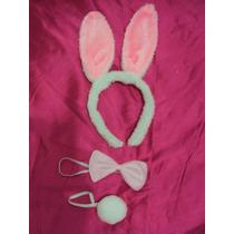 Fantasia Infantil Coelhinha Branca Com Rosa Kit 3 Peças
