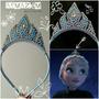 Tiara Coroa Da Elsa Frozen Em Pérola E Strass.