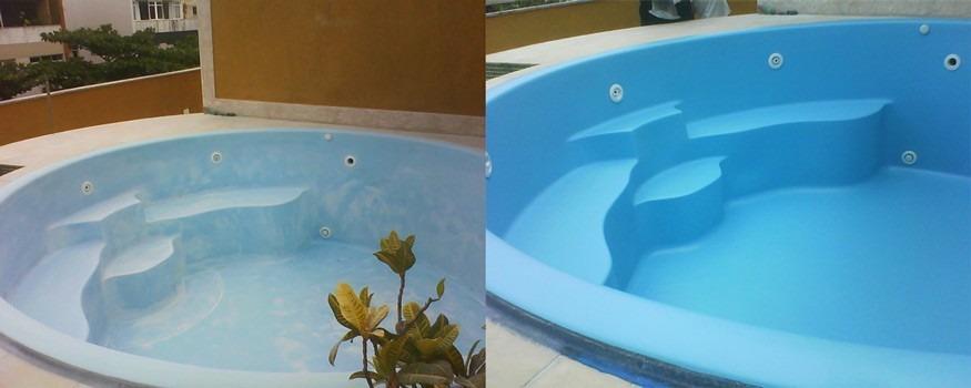 tinta p piscina de fibra de vidro   gel coat iso azul