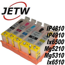 Cartucho Recarregável Canon Ip4810 Ip4910 Mg5210 Chip Full