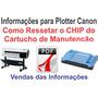 Como Ressetar Cartucho De Manutenção Canon Ipf 700 / 710