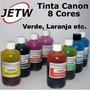 100ml Tinta Canon Cli-8g Pgi Verde Green Laranja Orange Etc.