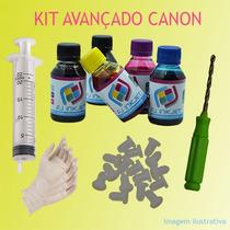 Kit 500ml Tinta Corante P/ Recarga De Cartucho E Bulk Canon