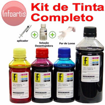 650ml Kit Tinta Recarga Cartucho Printer Canon Brother Clean