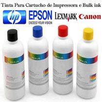 Tinta Alemã Preta Litro P/ Recarga Cartucho E Bulk Ink Canon