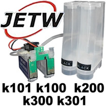 Bulk-ink K101 K100 K200 K300 K301 Mangueiras Chip Full Reset