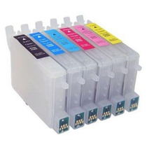 6 Cartuchos Recarregáveis R200 R220 R300 Rx500 Rx510 + Tinta