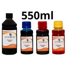 Recarga 4 Tinta Epson Tx420w Tx125 T23 C92 Bulk Ink 550ml