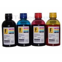 Kit 4 Cores C/ 250ml Cada Frasco Tinta Epson Formulabs Uv