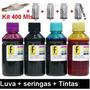 Refil Tinta Impressora Epson L100 L200 L210 L355 L555 400ml