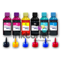 Kit 6 Refil De Tinta Epson Inktec 3lt - T50 R290 L800 1430w