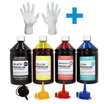 Kit 4 Cores Tinta Impressora Epson P/ Cartucho Recarregável