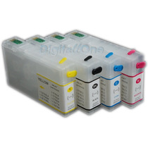 Kit 4 Cartuchos Workforce 4532 4022 4092 4592 + 400ml Tintas