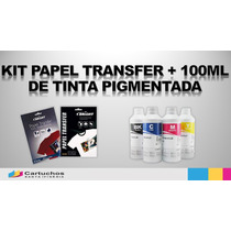 Kit Papel Transfer + 400ml De Tinta Pigmentada