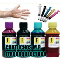400ml Kit Tinta Impressora Hp Pro8100 8600 Epson Tx Brother