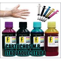 400ml Kit Tinta Recarga Cartucho Impressora Hp, Lex, Canon