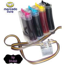 Bulk Ink Com Anti Refluxo E Tintas Para Impressora Hp D1460