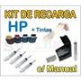 Kit Tinta Recarga De Cartucho Impressora Hp Lexmark Canon
