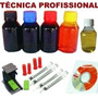 Kit Recarga Cartuchos Hp Lexmak + Snap Fill Tinta + Inktec