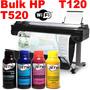 Bulk Ink Hp Designjet Plotter T520 T120 36 24 Hp 711 Tinta