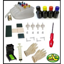 Kit Bulk Ink Hp C/ Snap Fill + 400ml Tintas + Completo