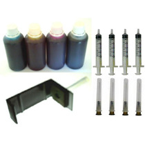 Kit Tinta Recarga 400ml + Snap Fill + 4 Seringas + 4 Agulhas