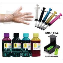 Kit Tinta Recarga Cartucho Hp 122 Impressora Frete Gratis