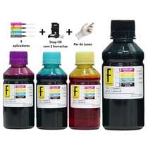 2500ml Kit Tinta Cartucho Recarga Hp | Canon + Snap Fill Fb