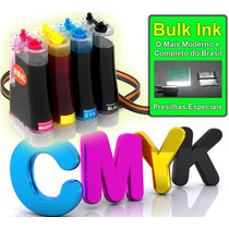 Novo Kit Bulk Ink Hp C3180 - Único Com Presilhas Especiais!