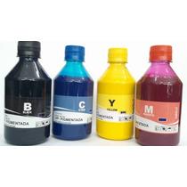 Kit4 Tintas Pigmentada Hp Inktec 8100 8600 500ml De Cada Cor