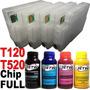 Cartucho Recarregavel Hp Plotter T520 T120 Chip Full + Tinta