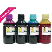 Kit Tinta Recarga Cartucho Impressora Hp Ou Epson -4 Litros