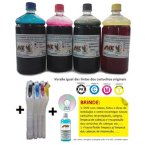 Kit Bulk Plotter Hp + Tinta 4 Ltrs Hp 500, 510, 800, 815 Etc