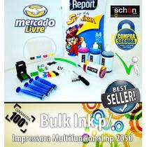 Bulk Ink Para Impressora Hp 2050 + 400ml De Tinta + Brinde!