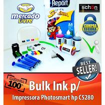 Bulk Ink Para Impressora Hp C5280 + 400ml De Tinta + Brinde!