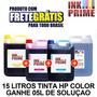 Tinta Impressora Hp 15 Litros + 5l De Solucao Frete Gratis