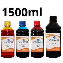 Recarga 4 Tinta Para Impressora Hp 122 Hp 2050 3050 1500ml