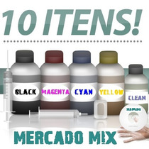 Kit Recarga Completo P/ Cartucho E Bulk Ink Hp 60 901 74 122