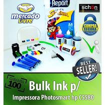 Bulk Ink Para Impressora Hp C5580 + 400ml De Tinta + Brinde!