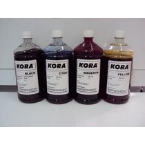 Kit 4 Litros Tinta Corante Universal Hp Kora . As 4 Cores
