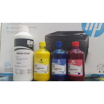 Tinta Pigmentada Hp 3 Unidades 500ml Color E 1 Litro Preto