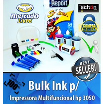 Bulk Ink Para Impressora Hp 3050 + 400ml De Tinta + Brinde!