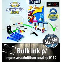 Bulk Ink Para Impressora Hp D110 + 400ml De Tinta + Brinde!