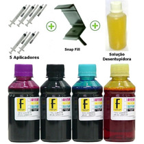 500ml - Kit Tinta Recarga Cartuchos Hp Lexmark Cânon + Snap